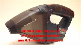 BOSCH GAS 10,8 V-LI mit Eigenbau-Vorfilter