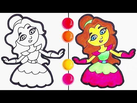 cómo-dibujar-una-princesa---dibujos-infantiles-|-chiki-arte-aprende-a-dibujar