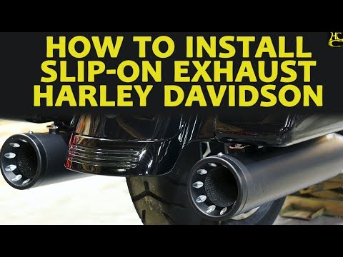 how to install slip-on exhaust on harley davidson - quick & easy!