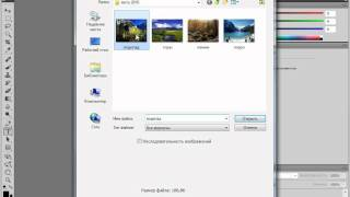 Открытие документа в Adobe PhotoShop CS5 (6/51)