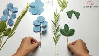 how to make crepe paper leaves / Как сделать листья из гофрированной бумаги