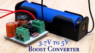 DIY 3.7V to 5V Boost Converter