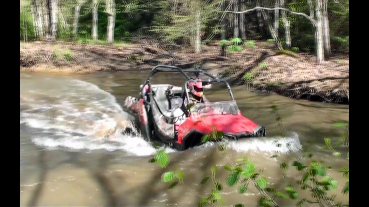 "Polaris 1000 Atv >> RZR & ATV Trip Outlaw Trails WV ""Creeks and Trails"" - YouTube"