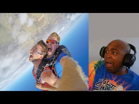 MY FEAR OF HEIGHTS KICKED IN AND I FAINTED!! - SKYDIVING IS SCARIER THEN I THOUGHT