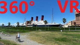 【360度VR】SSコロンビア号裏まで歩いて行く動画