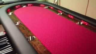 Custom Lighted Poker Table 94 Change Led Lights
