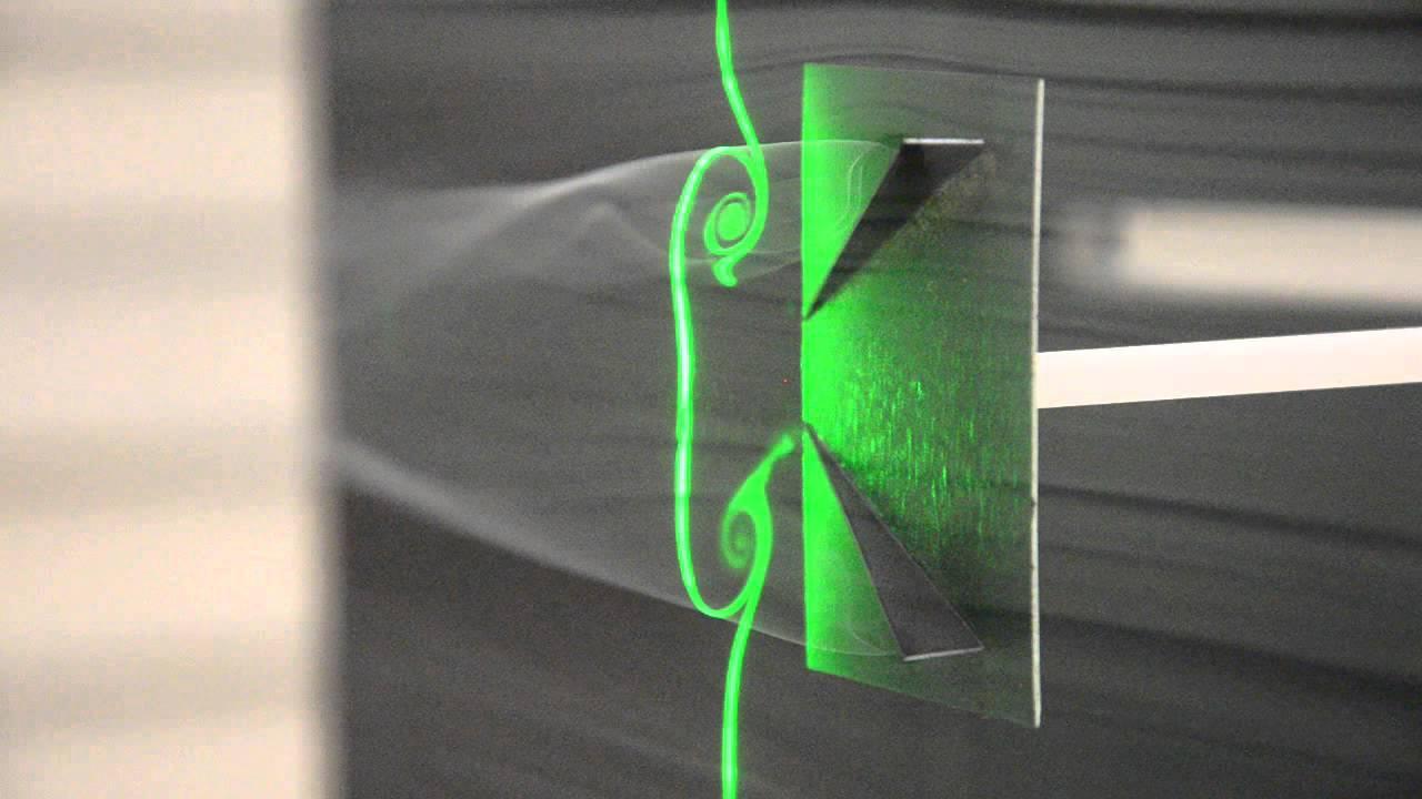 Converging Vortex Generator (Half Delta Wing) - YouTube