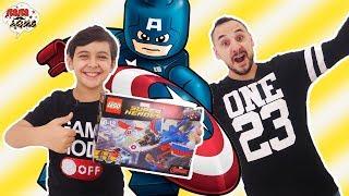 ВОЗДУШНАЯ ПОГОНЯ КАПИТАНА АМЕРИКИ! Папа Роб и Ярик собирают набор Lego Marvel Super Heroes.