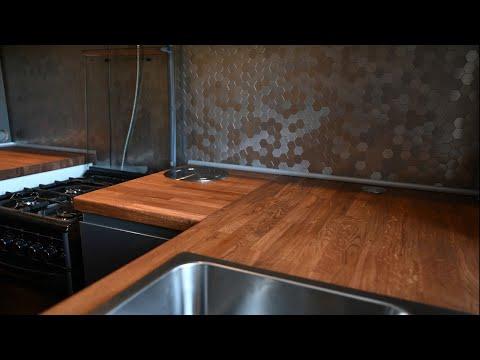 Кухня из мебельного щита своими руками