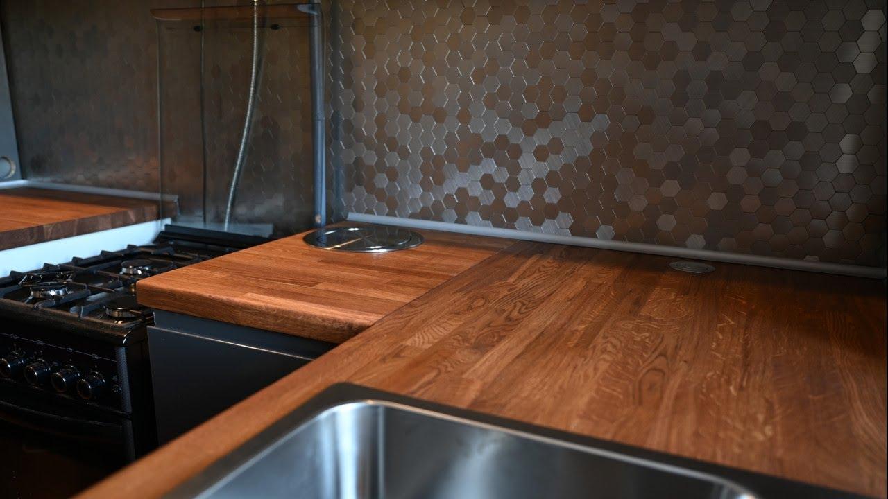 Кухонная столешница из мебельного щита / Ремонт кухни своими руками
