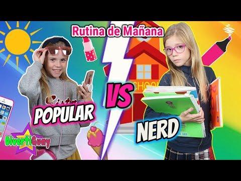 RUTINA DE MAÑANA DE COLEGIO POPULAR VS NERD!! MORNING ROUTINE POPULAR VS NO POPULAR EN LA ESCUELA