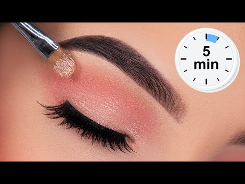 5 MINUTE Soft Eye Makeup for Work / School / Everyday