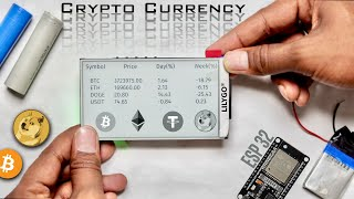 Portable Crypto Currency Display using ESP32 💰 📈