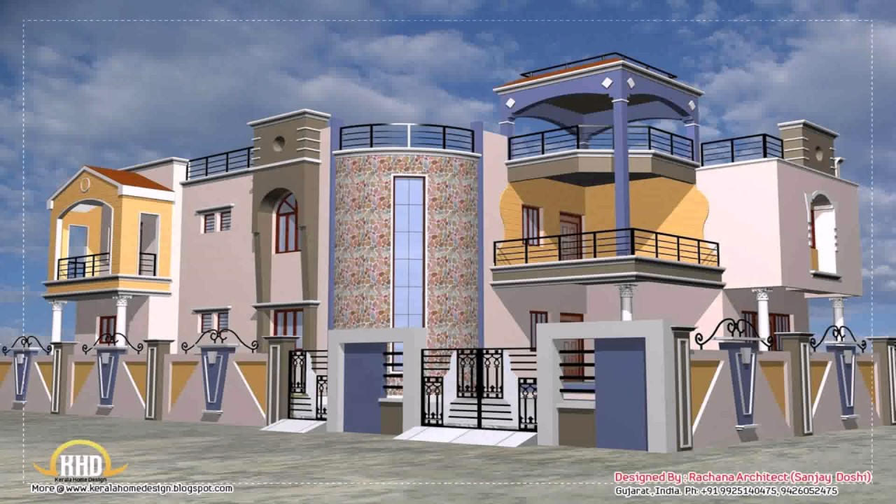 Indian House Design Elevation - YouTube