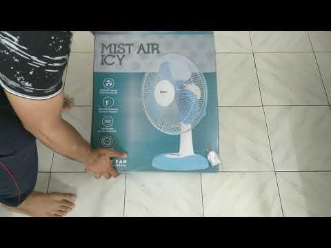 best table fan   usha mist icy air   installation   unboxing   aditya Biyani    budget table fan
