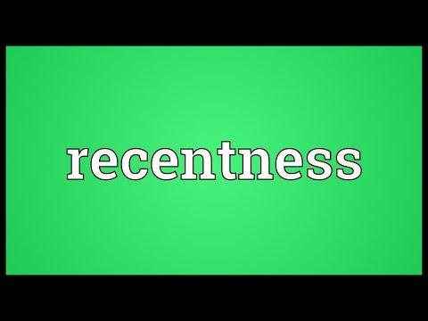 Header of recentness