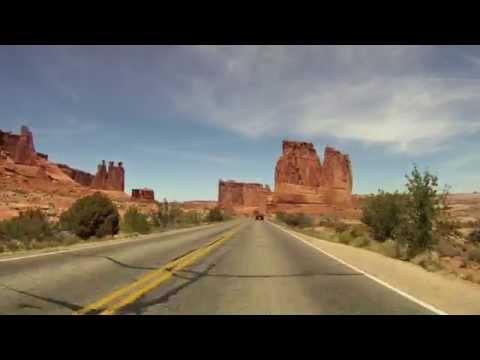 Arches National Park Entrance Road - GoPro Real Time Scenery!