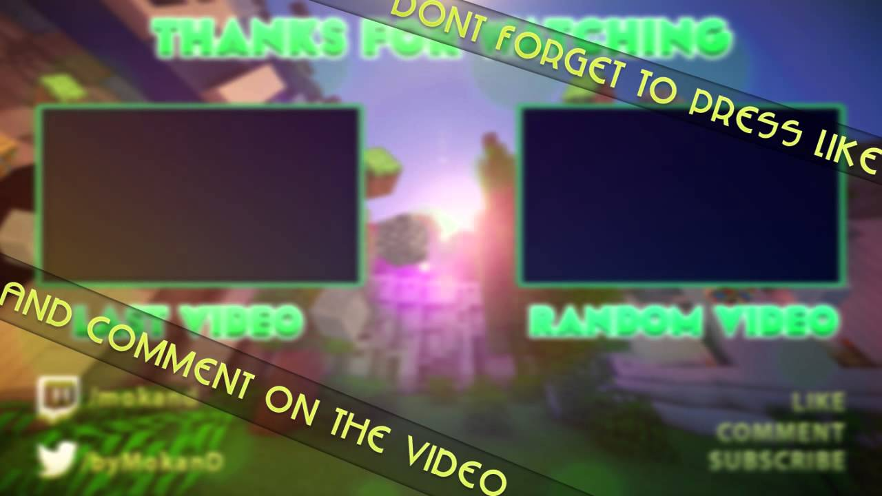 Minecraft outro template adobe after effects cs6 for Minecraft outro template movie maker