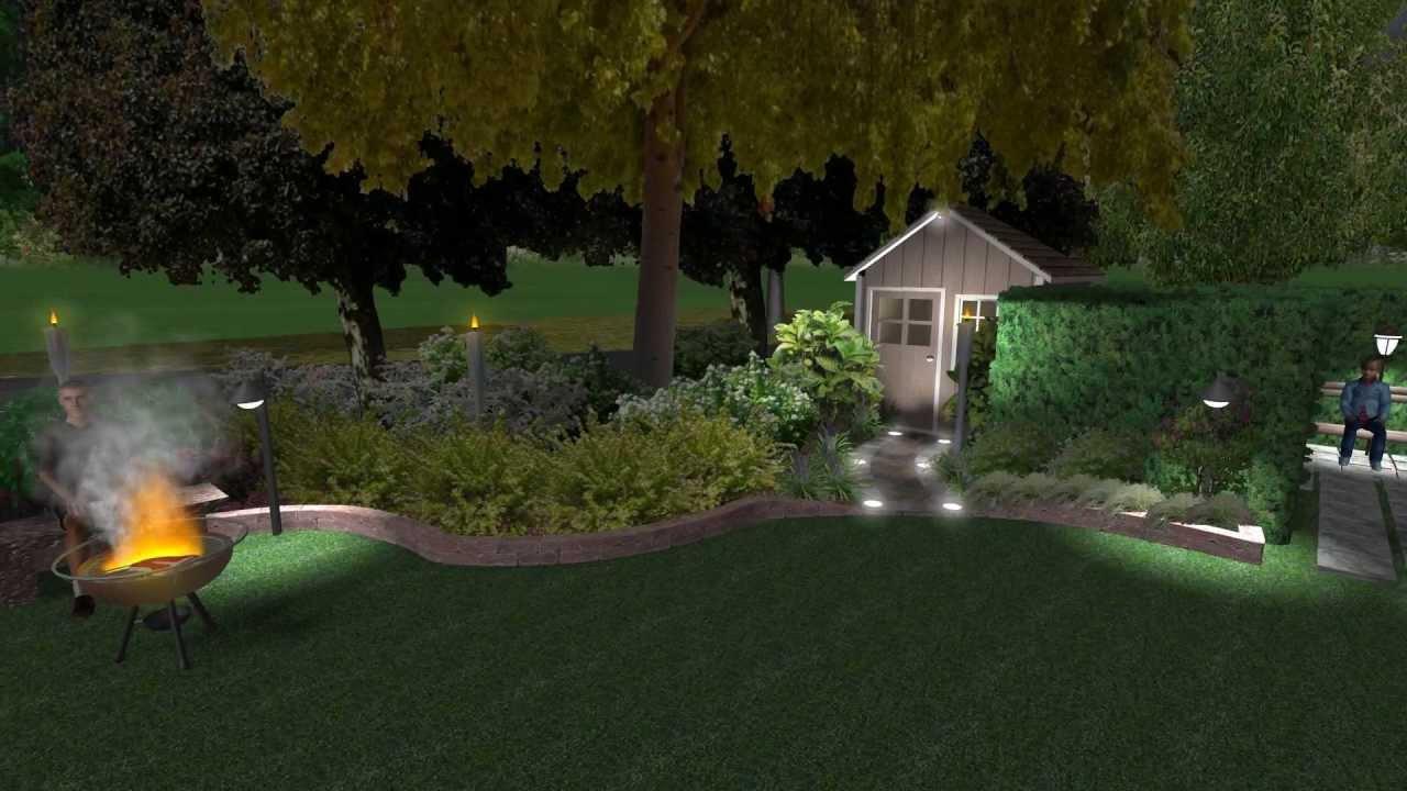 giardino 3d mirandola illuminato youtube
