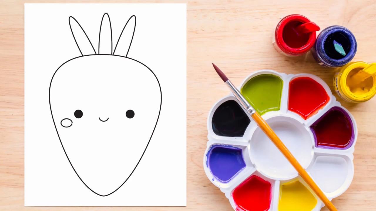 Como Dibujar Zanahoria Kawaii Youtube Lava 1 kilo (2 libras) de zanahoria (unas 8) con agua corriente fría. como dibujar zanahoria kawaii