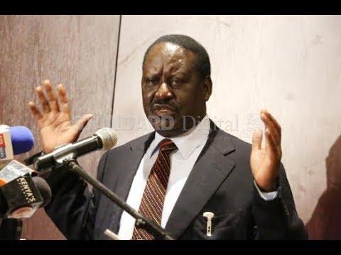 Raila Odinga speaks on meeting with IEBC Chair Wafula Chebukati