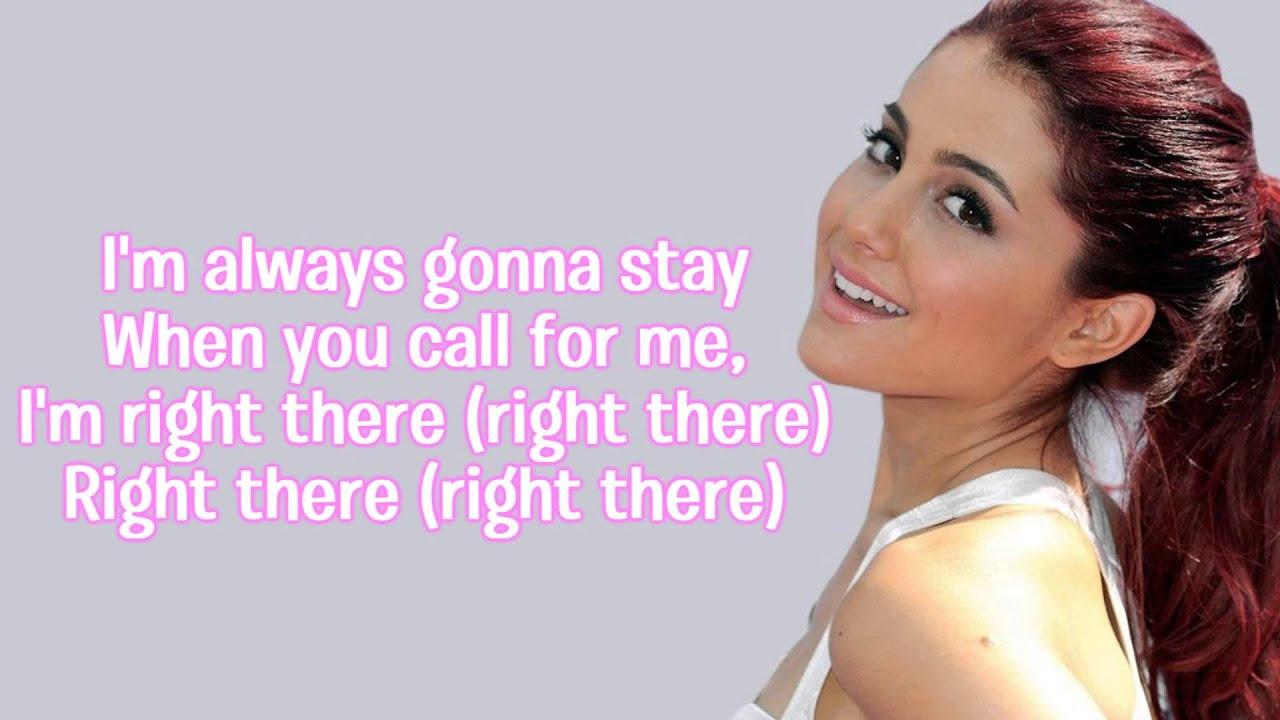 Right There - Ariana Grande (feat. Big Sean) Lyrics - YouTube