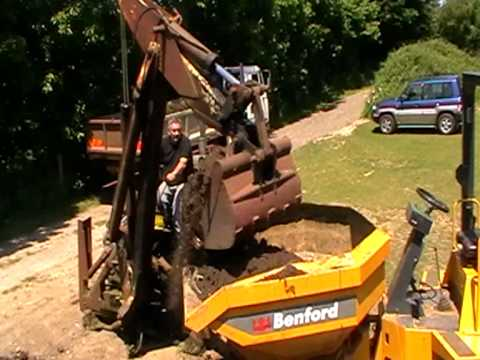 50 Year old JCB working-loading lorry & dumper