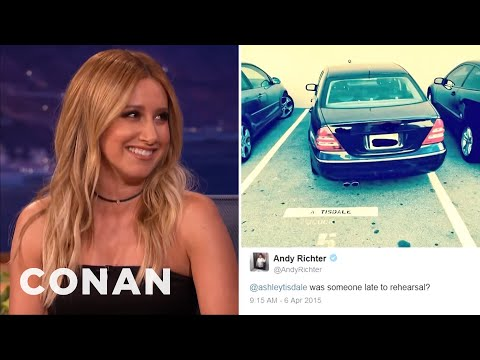 Ashley Tisdale's Twitter Spat With Andy Richter   CONAN on TBS