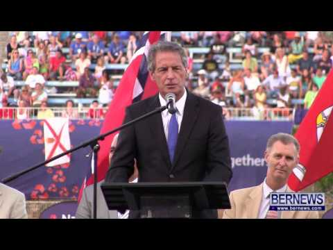Chairman Jon Beard At NatWest Island Games, July 13 2013