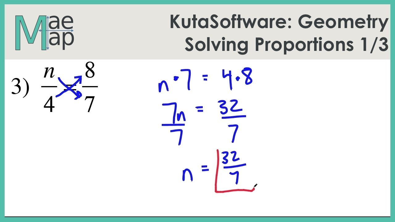 hight resolution of KutaSoftware: Geometry- Solving Proportions Part 1 - YouTube