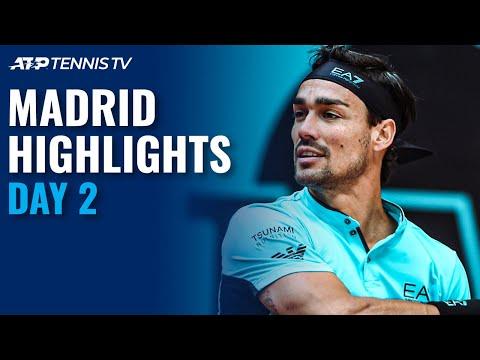 Fognini, Dimitrov, Evans, Karatsev All in Action | Madrid 2021 Day 2 Highlights - Tennis TV
