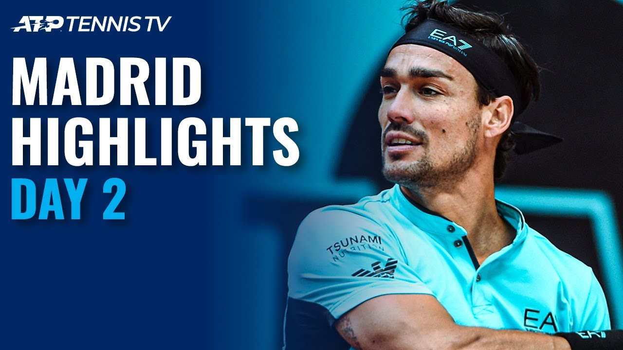 Fognini, Dimitrov, Evans, Karatsev All in Action | Madrid 2021 Day 2 Highlights
