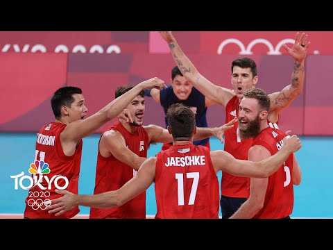 USA men's volleyball takes care of business against Tunisia  Tokyo Olympics  NBC Sports