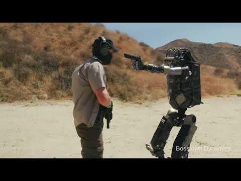 Очередное видео от Bosstown Dynamics. Испытание боевого робота-стрелка