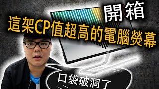 【科技3C開箱】一架適合電競,設計各種用途的CP值超高的LED熒幕|電腦熒幕|科技開箱