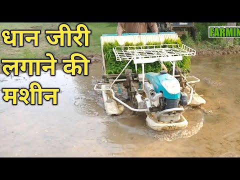 धान लगाने वाली मशीन का रिव्यू| Rice/Paddy Transplanter machine Review Price Subsidy in hindi