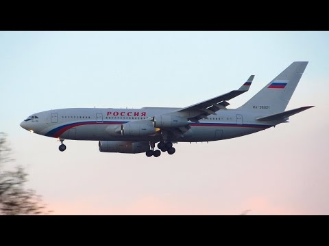 EPIC! 2x ILYUSHIN IL-96-300 Russian Government Landing at Berlin Tegel Airport [Full HD]