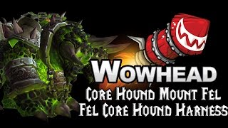 Core Hound Mount Fel - Fel Core Hound Harness