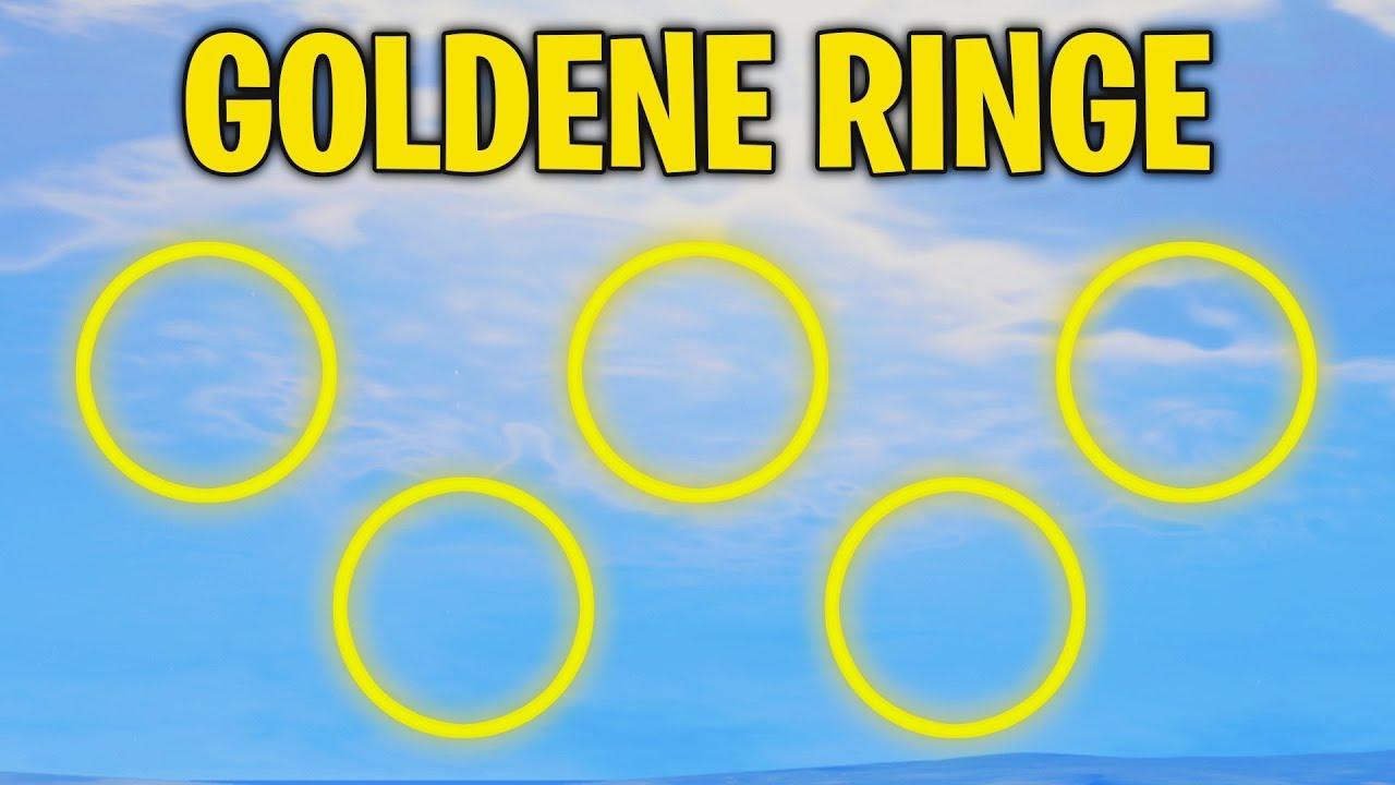 Fortnite Fliege Durch Goldene Ringe Herausforderung 14 Fortnite