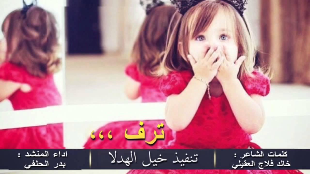 شيلة ترف كلمات الشاعر خالد فلاج العقيلي اداء المنشد بدر الحلفي تنفيذ خي ل الهدلا Youtube