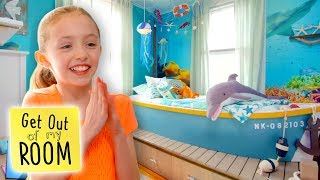 Girl Gets Ocean-Themed Room Makeover!   Get Out Of My Room