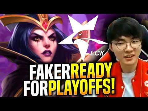 FAKER LEBLANC Is READY FOR PLAYOFFS! - When Faker Picks Leblanc Mid! | SKT T1 Replays