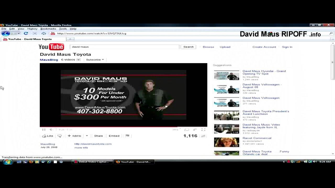 David Maus Ripoff INFO David Maus Toyota Hyundai Chevrolet Volkswagen VW Foundation - YouTube