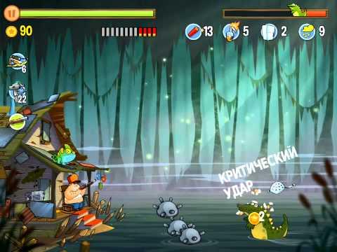 Swamp attack геймплей русская версия