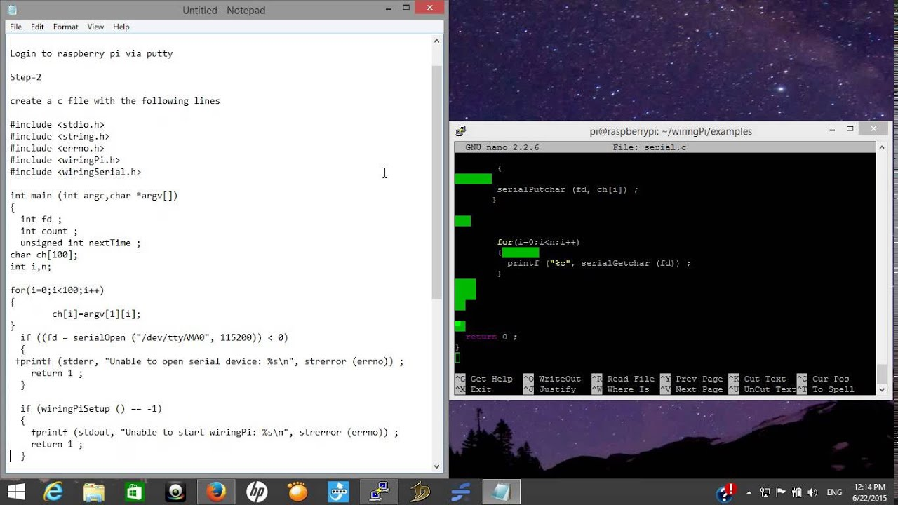 Serial Communication Using WiringPi Raspberry Pi
