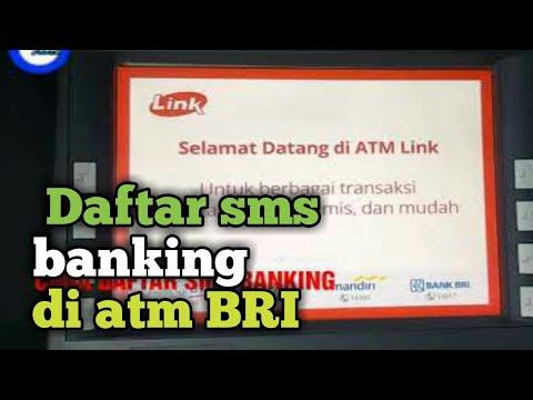 CARA DAFTAR SMS BANKING DI ATM BRI
