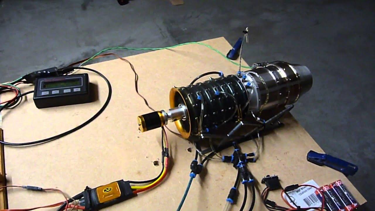Mini Turbojet engine 1st short test on gas only