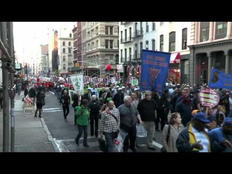 AMAZING! May Day 2012 -  March on Wall Street - Occupy Wall Street Video