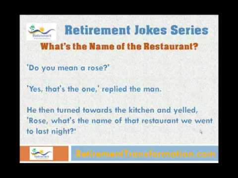 Restaurant Kitchen Jokes clean funny retirement jokes series - retirement joke # 3 - youtube