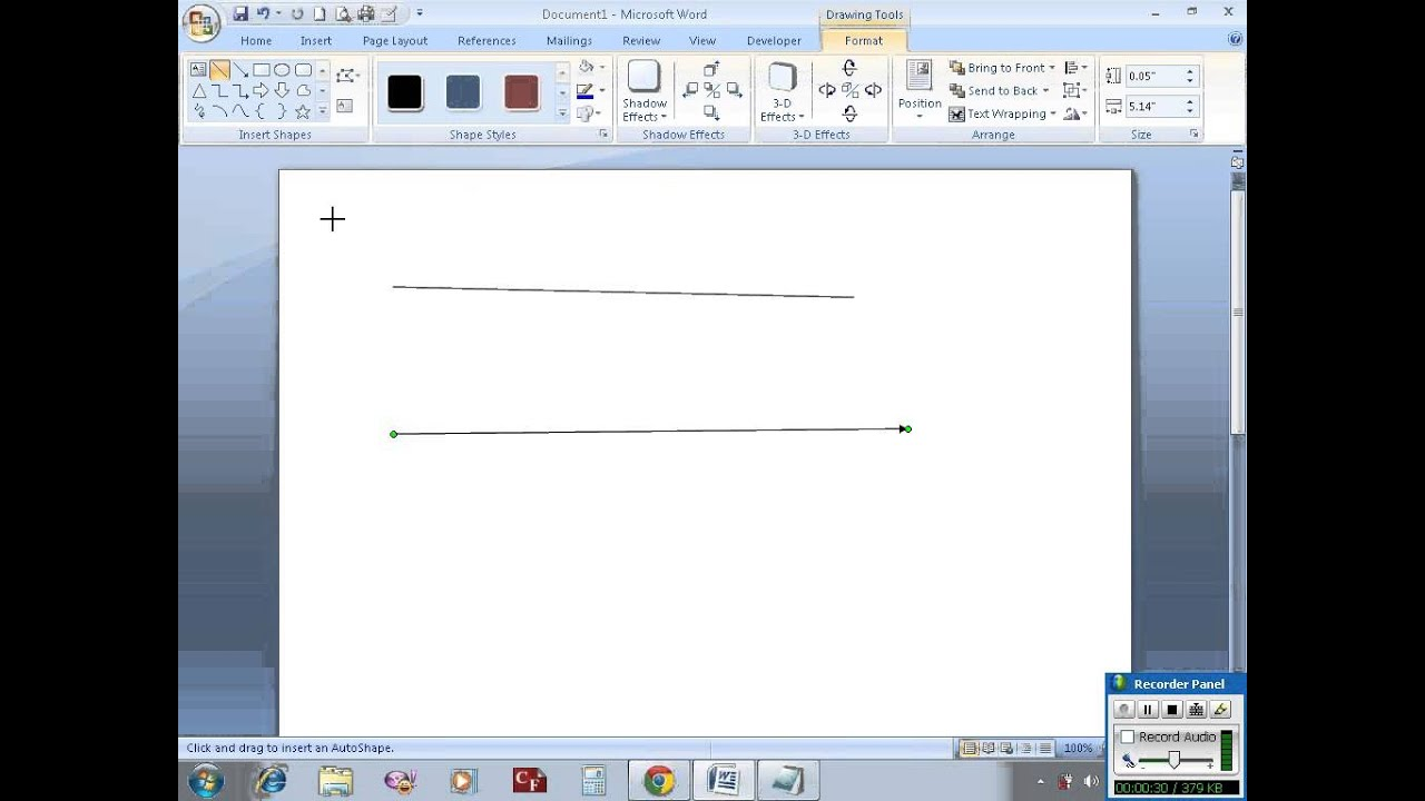 Drawing Lines With Word : Draw horizontal vertical lines in ms word youtube